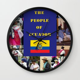 The People of Ecuador, Collage Wall Clock