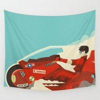akira Wall Tapestries featuring Akira by Danny Haas