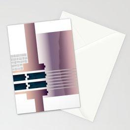 Minimalist Gradient Geometric Interlocking Abstract Structures #buyart #homedecor Stationery Cards
