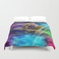 cannabis Duvet Covers featuring WetPaint420, Cannabis In The Club by WetPaint420