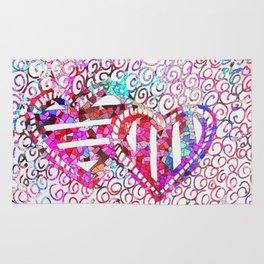 Colliding Hearts Rug