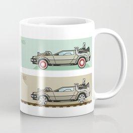 Back to the Future - Delorean x 4 Coffee Mug