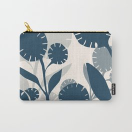 Wildflowers Large - Blue Carry-All Pouch