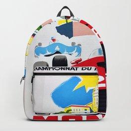 Monaco 1957 Grand Prix - Vintage Poster Backpack