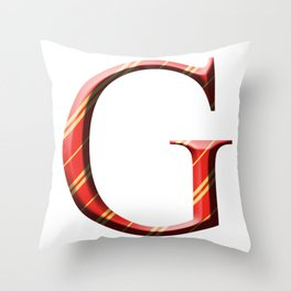 G for Gryffindor Throw Pillow