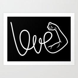 Love Is The Power (white version) Art Print