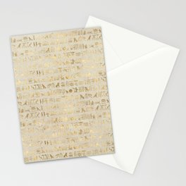 Hieroglyphs Papyrus Stationery Cards