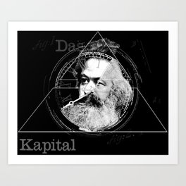 The Time of Marx Dark Art Print