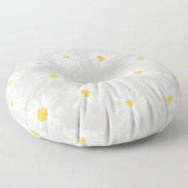FIELD OF DAISIES GREY Floor Pillow