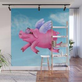 flying pig Wall Mural