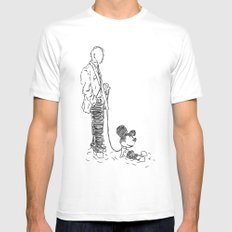Walking the Dog Mens Fitted Tee White MEDIUM
