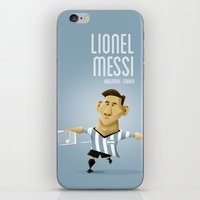 messi iPhone & iPod Skins featuring Messi by Anthony Clark