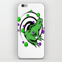 frog iPhone & iPod Skins featuring Frog  by Michael Moriarty Photography