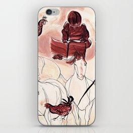Children Playing Horses Chicken Composition Painting iPhone Skin
