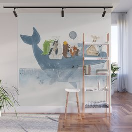 a whale of a time Wall Mural