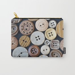 Wooden Buttons Carry-All Pouch