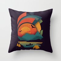 explore Throw Pillows featuring Explore by The Child