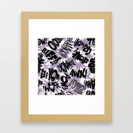 Biff Bam Pow 2 Framed Art Print