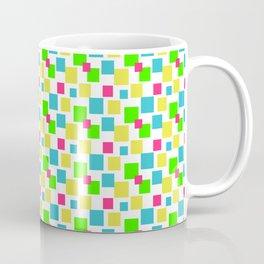 Multicolored square pattern, green yellow blue red square pattern, fashion pattern Coffee Mug
