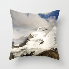 Alaskan Snowy Mountains In The Clouds Of The Divine Throw Pillow