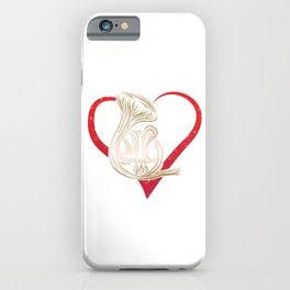 Instrumentalist Musician Hornist French Horn Heart Music Loves Gift iPhone Case