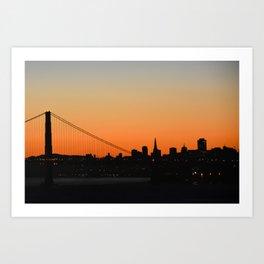 City Silhouette Art Print