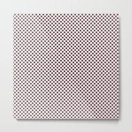 Tawny Port Polka Dots Metal Print