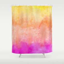 Bright Sunrise Tones Shower Curtain