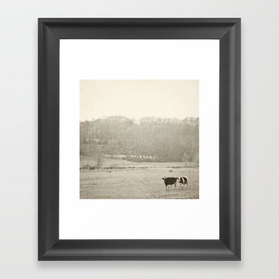 How now two cows  Framed Art Print