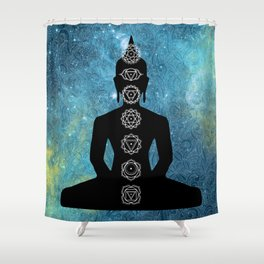 Sacred Geometry - Chakras Aligned Shower Curtain