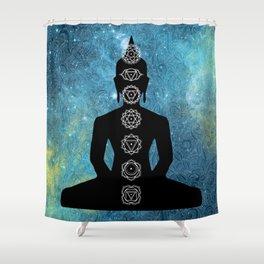 Sacred Geometry - Chakras Aligned Shower Curtain