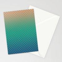 Polka Plankton Blue Stationery Cards