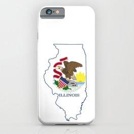 Illinois with Illinois State Flag iPhone Case