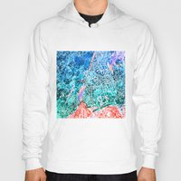 new york map Hoodies featuring new york new york map by Bekim ART