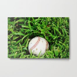 The Lost Baseball Metal Print