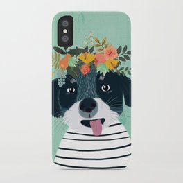 PUPPY DOGS WITH FLOWERS iPhone Case