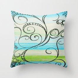Salix Anisum Throw Pillow
