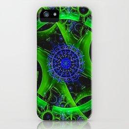 Green Gears Fractal iPhone Case