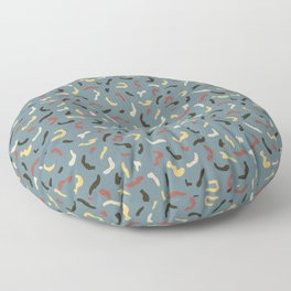 Hand drawn chaotic dashes pattern Floor Pillow