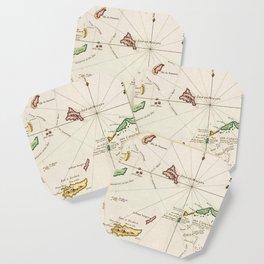 Vintage Turks and Caicos Map (1764) Coaster