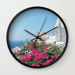 The Colors of Santorini Wall Clock