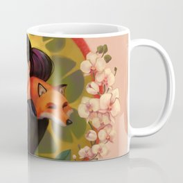Between Orchids and a Lotus flower. Coffee Mug