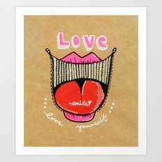 Love smile : Love Yourself Art Print