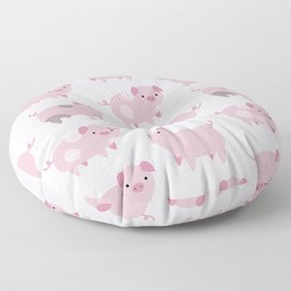 Cute Pink Piglets Pattern Floor Pillow