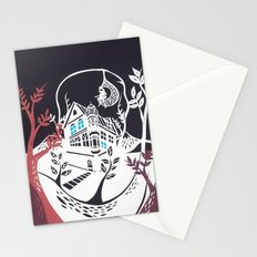 Round Tree House Stationery Cards
