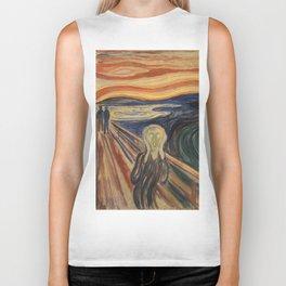 The Scream by Edvard Munch Biker Tank