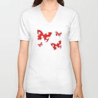 polka dot V-neck T-shirts featuring Polka dot by Pirmin Nohr