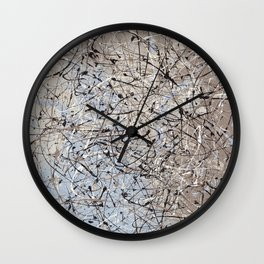High Again - abstract painting by Rasko Wall Clock