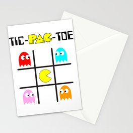 Tic-Pac-Toe Stationery Cards
