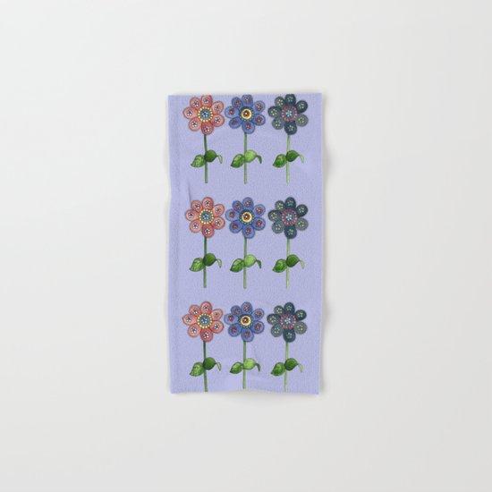 Flower Row Hand & Bath Towel